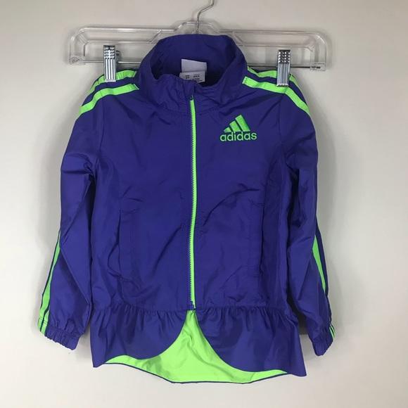 adidas Other - ADIDAS | Girls Peplum Windbreaker Jacket